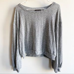 Almost Famous Heather Grey Long Sleeve Top